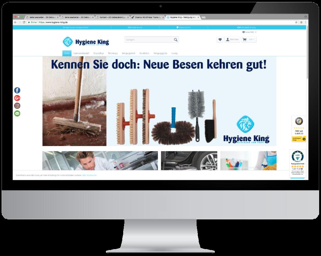 Hygiene King Online Shop - Münster - Reinigung vom Profi